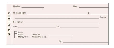 rent slip template rent receipt templates word excel formats