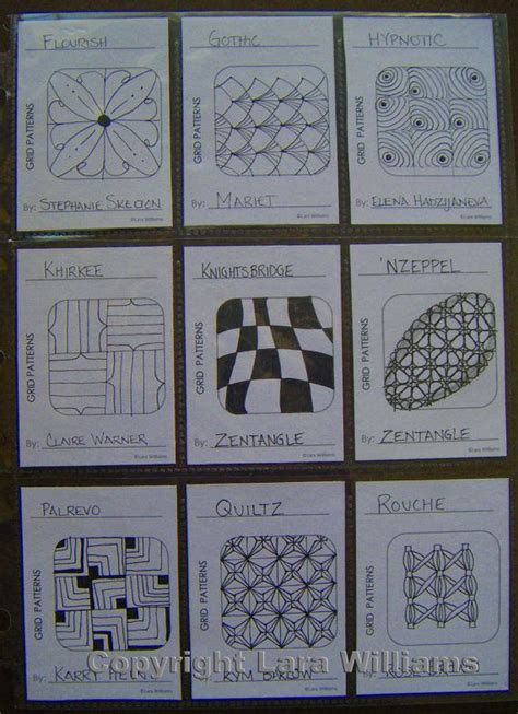 Zentangle Pattern Organizer | 12 best images about a zentangle organisation on