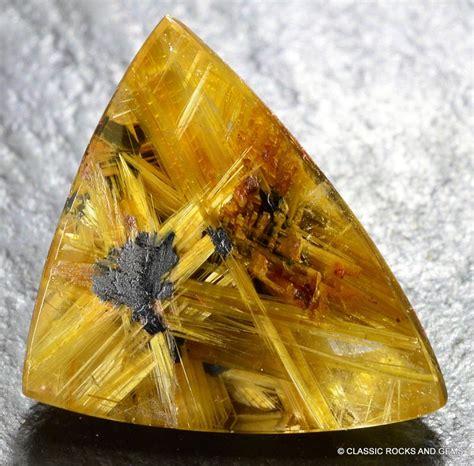 Golden Rutilated With Hematite Quartz starburst gold rutile rutilated quartz gemstone cabochon rutilquarz 7 2ct ebay