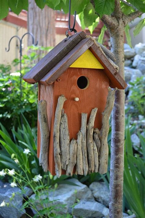 Handmade Bird House - birdhouse handmade rustic wood bird house woodworking