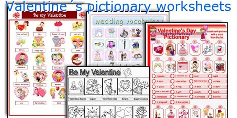 valentines day pictionary teaching worksheets 180 s pictionary