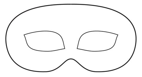 blank mask template 7 best images of plain masks templates printables
