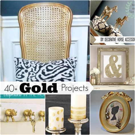 40 awesome gold diy projects