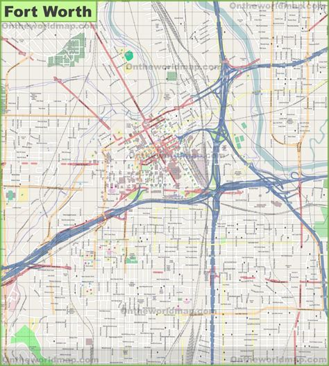 texas fort worth map large detailed map of fort worth
