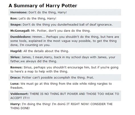 All Comments On Harry Potter - 23 funniest things has said about harry potter