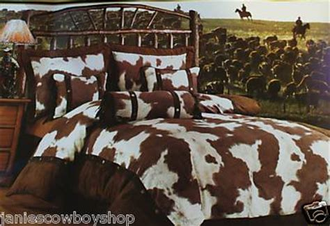 Cowhide Comforter Set by Roll Around In These Cowboy Style Bedding Sets Instead Of