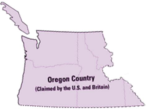 oregon country map 1846 establishing borders the expansion of the united states
