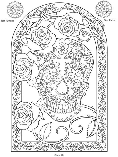 day of the dead art coloring pages pinterest the world s catalog of ideas