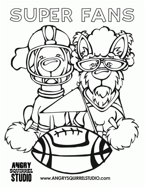 2016 super bowl coloring pages coloring home