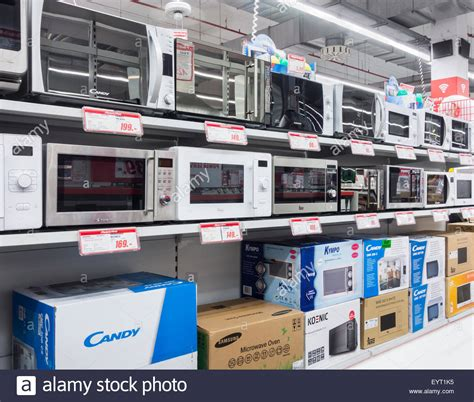 Microwave Store | microwave ovens display in electrical goods store stock