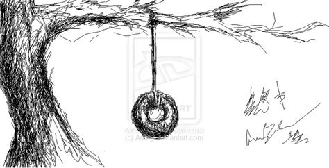 how to draw a tire swing 1 tire swing by arkbg on deviantart