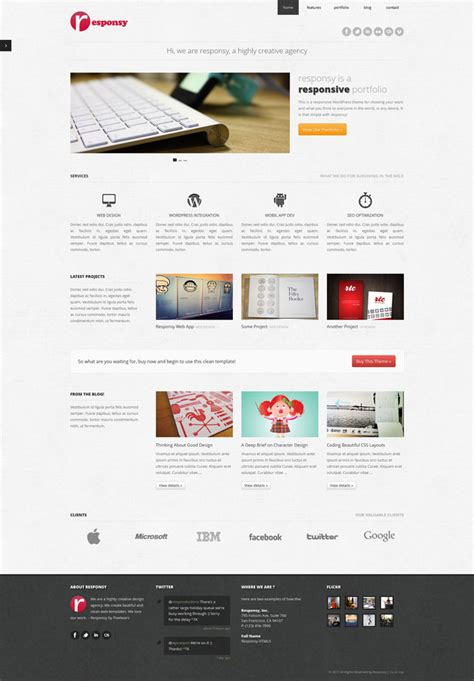 Responsy Wp By Pixelwars | creative and well designed wordpress portfolios 31 themes