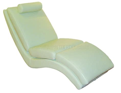 White Leather Chaise Lounge White Leather Upholstery Contemporary Chaise Lounge