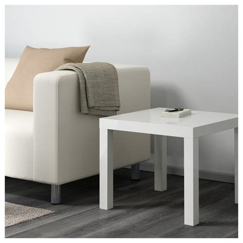 lack sofa table white lack side table high gloss white 55x55 cm ikea