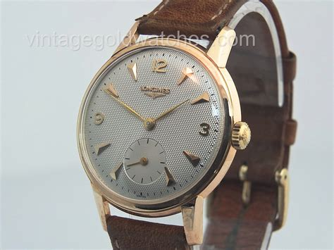 longines 18k gold oversize 1955 vintage gold watches