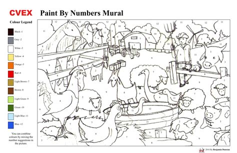 free coloring pages of paint by number adults
