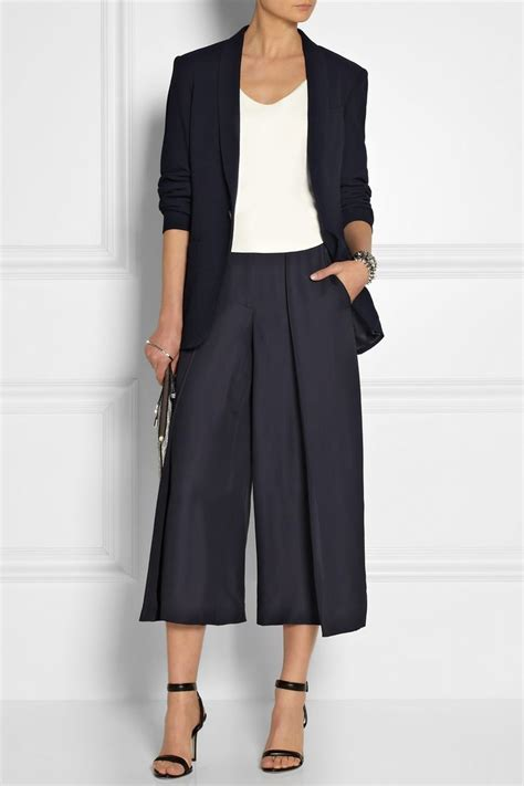 54 best trend cropped culottes images on romper skirt black cullotes and