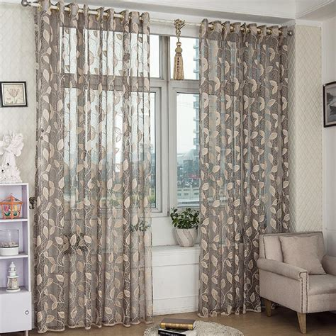 Half Window Curtains 2 Panel Breathable Half Black Out Voile Sheer Curtains Bedroom Living Room Window Screening