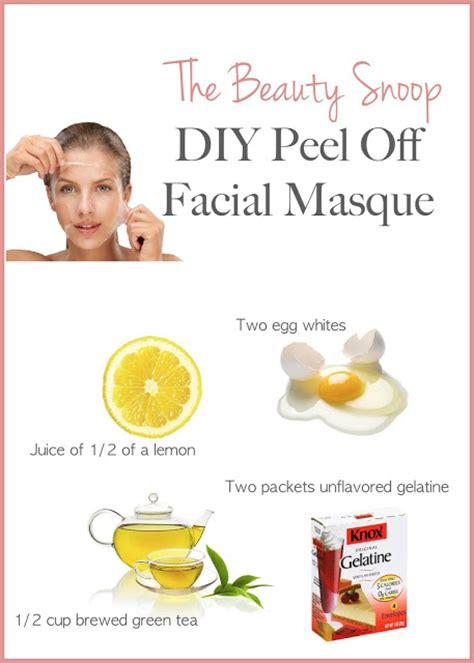 How To Detox Fac by The Snoop Diy Peel Detox Masque