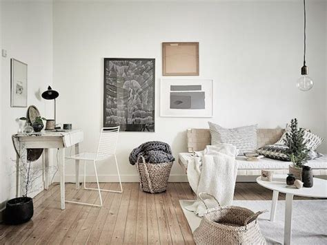 a cosy swedish home in neutrals with seasonal touches