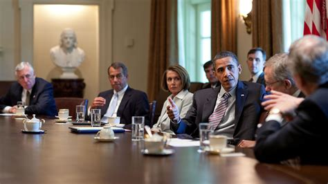 Obama Cabinet Members by President Obama Meets With Congressional Leaders On The Bp