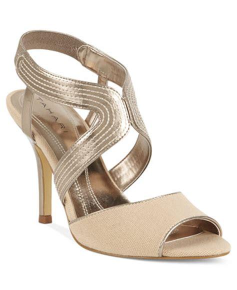 Dress Shoe Macy S by Tahari S Mid Heel Dress Sandals Shoes Macy S