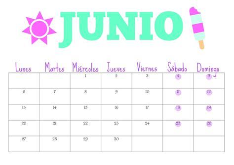 Calendario De Junio Organiza T Calendario De Junio Gratis Para Descargar