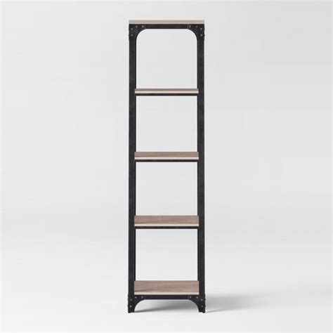 target narrow bookcase 72 quot franklin 5 shelf narrow bookcase gray threshold target