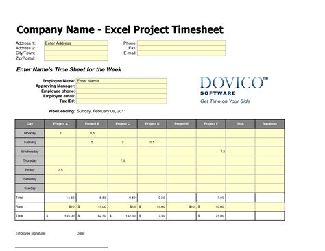 free employee timesheet template best photos of excel template employee card employee