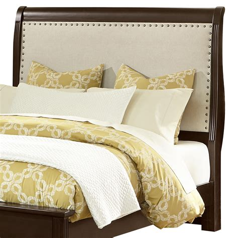 french headboard king vaughan bassett french market 380 663 king upholstered