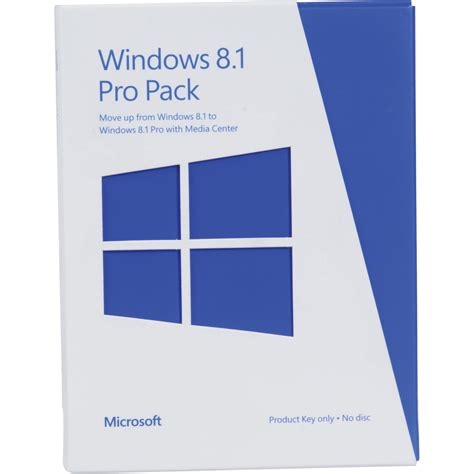 Microsoft Windows 8 1 Pro microsoft windows 8 1 pro pack product key 5vr 00139 b h photo