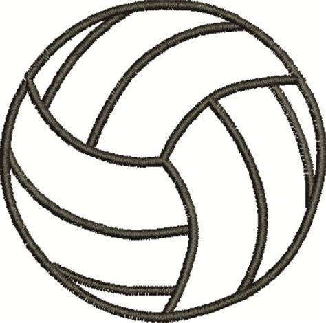 printable volleyball volleyball outline embroidery designs machine embroidery