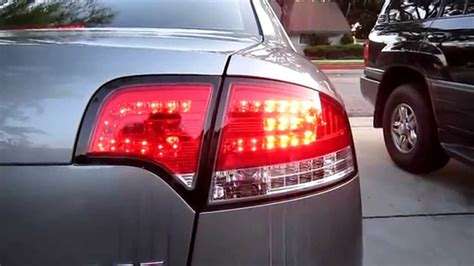 audi b7 tail lights audi a4 s4 rs4 b7 red clear led tail lights 05 08 youtube