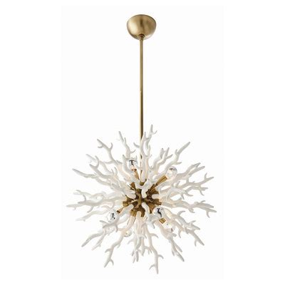 White Coral Chandelier 15 Chic Coastal Chandeliers And Pendants