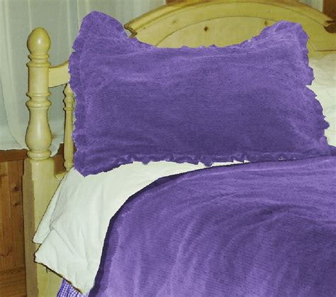 Purple Chenille Bedspread Purple Chenille Comforter Set Available In To