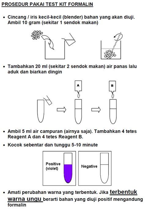 Formalin Test Kit Formaldehyde Rapid Test Kit test kit formalin info cara uji cepat toko yang