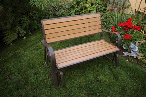 glider garden bench outdoor glider bench ideas the homy design