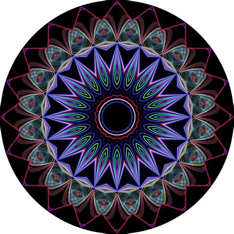 design art org clipart prismatic mandala line art design 3