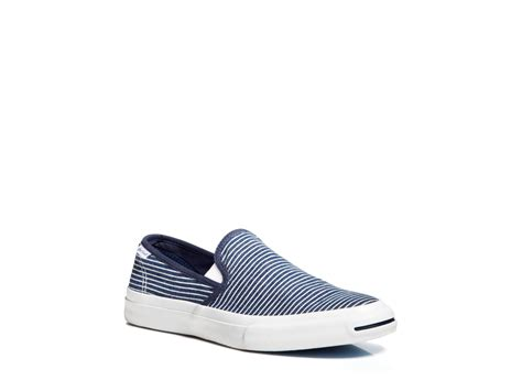 purcell slip on sneakers converse purcell ii striped slip on sneakers in blue