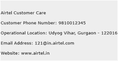 Airtel Mobile Number Address Search Airtel Customer Care Customer Service Phone Number Toll Free Contact Address