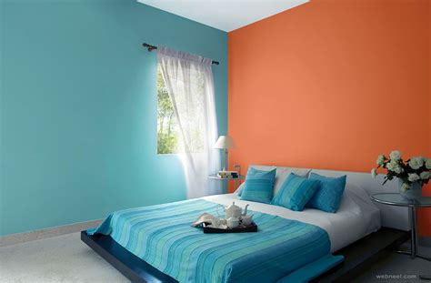 blue colour bedroom ideas orange blue bedroom colour ideas 6