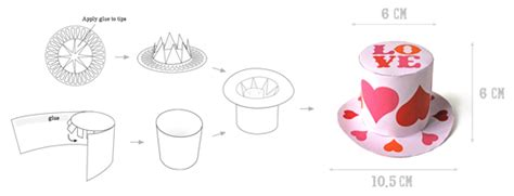 mini top hat template is a splendid thing mini st valentines day hat template