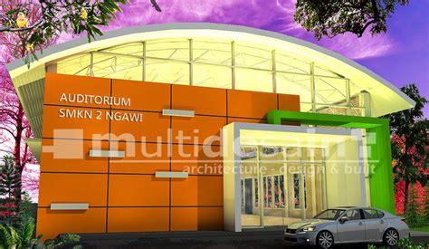 layout gedung serbaguna gedung auditorium serbaguna smkn multidesain arsitek