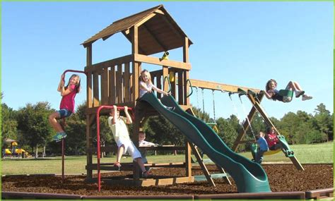 backyard playthings creative playthings williamsburg package 2 swing set