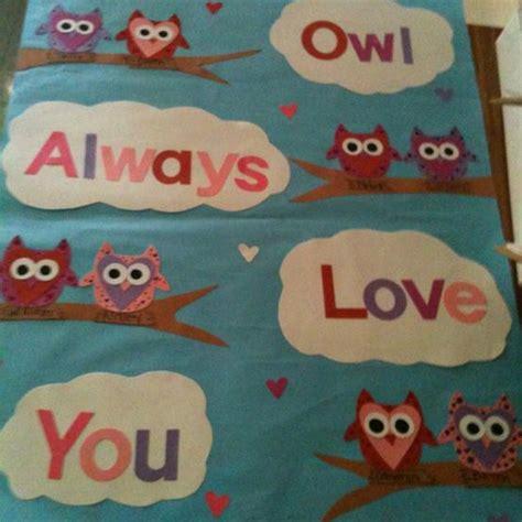 valentines bulletin board ideas owl always you s day bulletin board