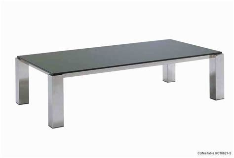 tempered glass metal coffee tables rectangle black glass