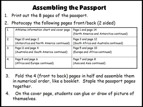pupil passport template reading passports and maps the amazing reading race