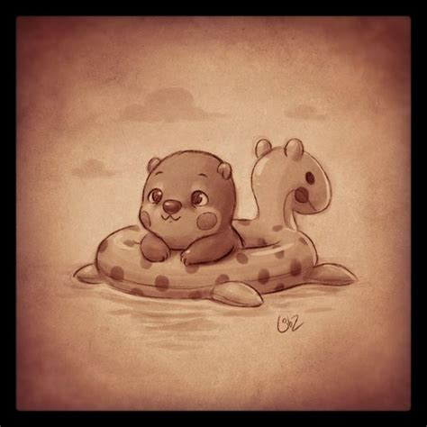 warm art tattoo warm up sketch it s supposed to be a baby otter