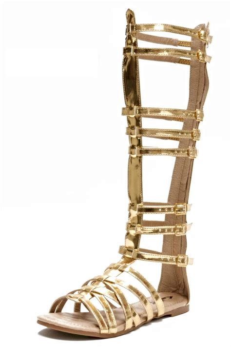 cheap gold gladiator sandals branded knee high gladiator sandals from san diego