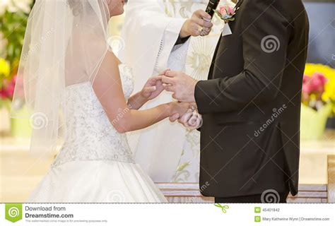 Wedding Ring Exchange Clipart by Wedding Ring Exchange Stock Photo Image 45401842